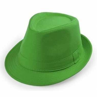Groen trilby verkleed hoedje volwassenen carnavalskleding roosendaal