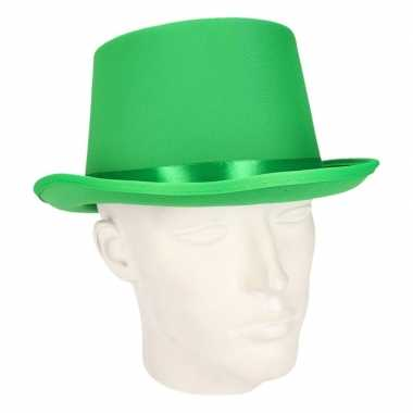 Groene hoge hoed volwassenen carnavalskleding roosendaal