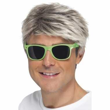 Groene neon feestbril volwassenen carnavalskleding roosendaal