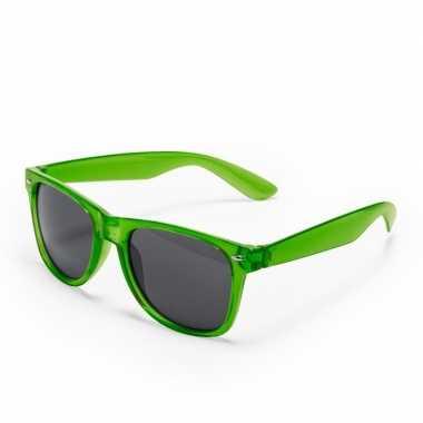 Groene verkleed accessoire zonnebril volwassenen carnavalskleding roo