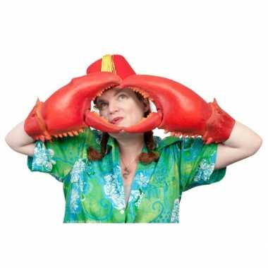 Grote krabben handschoenen carnavalskleding Roosendaal