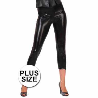 Carnavalskleding grote maten capri legging zwart roosendaal