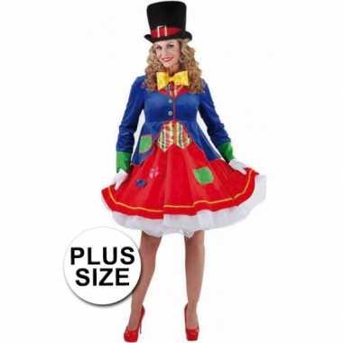 Carnavalskleding Dames Goedkoop.Grote Maten Clowns Jurkje Lucky Dames Carnavalskleding Roosendaal
