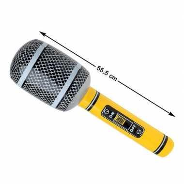 Grote opblaasbare microfoon carnavalskleding roosendaal