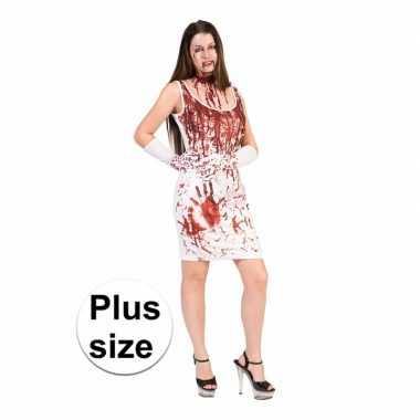 Carnavalskleding halloween bloederige jurk dames grote maat roosendaal