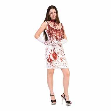 Carnavalskleding halloween bloederige jurk dames roosendaal