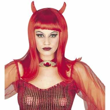 Carnavalskleding halloween dames duivel pruik roosendaal