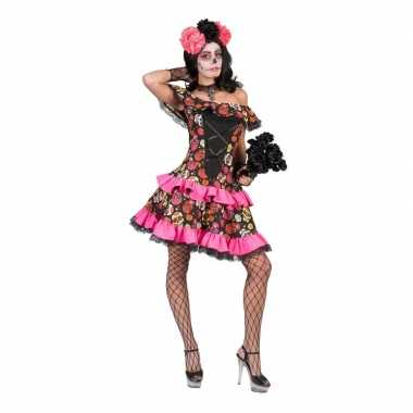Halloween day of the dead halloween jurk dames carnavalskleding roose