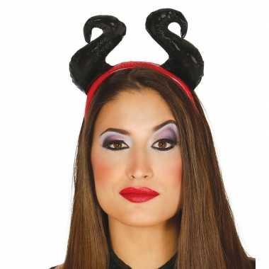 Halloween diadeem zachte hoorns dames carnavalskleding roosendaal