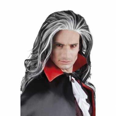 Carnavalskleding halloween grijze vampier pruik volwassenen roosendaal