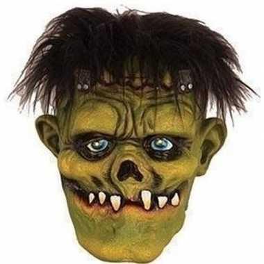 Halloween groen eng halloween frankenstein masker latex carnavalskled