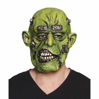 Halloween groen eng halloween oger masker latex carnavalskleding roos