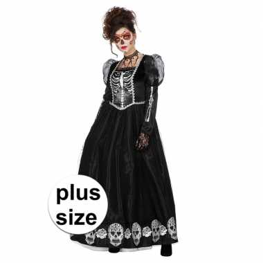 Halloween grote maat day of the dead halloween gothic jurk dames carn