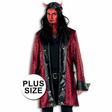 Carnavalskleding halloween grote maten duivelsjas heren roosendaal