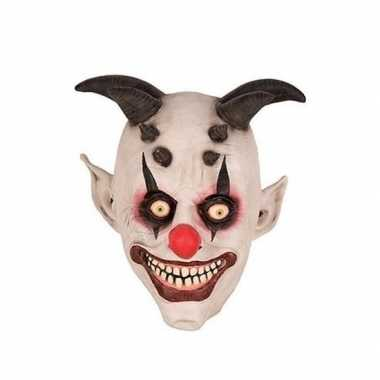 Halloween halloween clown hoorns masker latex carnavalskleding roosen