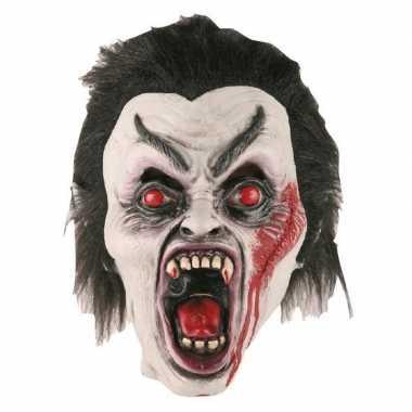 Halloween halloween dracula masker latex carnavalskleding roosendaal
