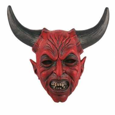 Halloween halloween duivel masker latex carnavalskleding roosendaal