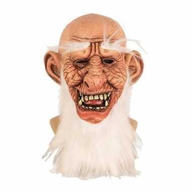 Halloween halloween masker oude man latex carnavalskleding roosendaal