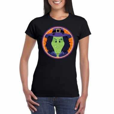 Halloween heks t shirt zwart dames carnavalskleding roosendaal