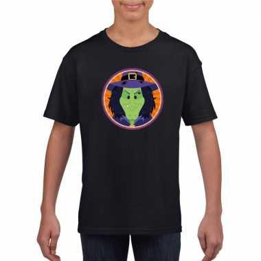 Halloween heks t shirt zwart kinderen carnavalskleding roosendaal