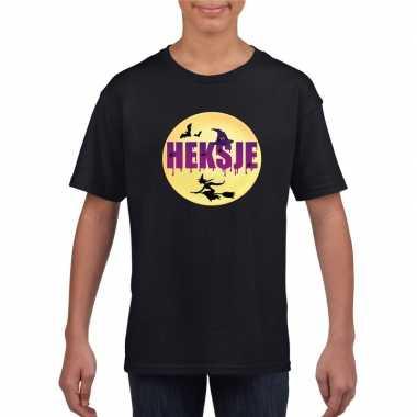 Halloween heksje t shirt zwart meisjes carnavalskleding roosendaal