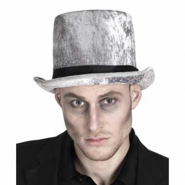 Carnavalskleding halloween hoge zombie grafgraver hoed roosendaal