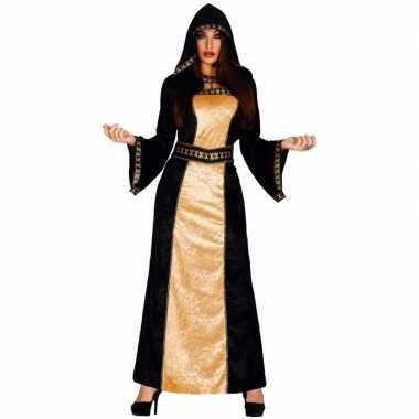 Carnavalskleding halloween horror duistere vrouw jurk zwart goud roosendaal