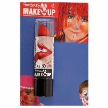 Halloween/horror mat rode lippenstift/lipstick carnavalskleding roose