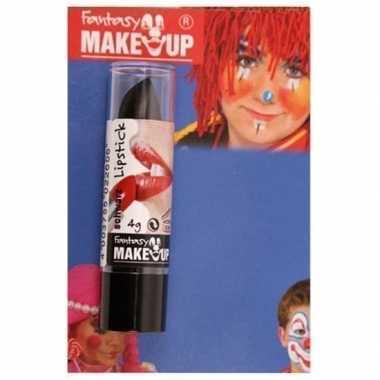 Halloween/horror mat zwarte lippenstift/lipstick carnavalskleding roo