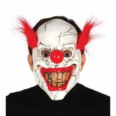 Halloween masker horror clown rood haar carnavalskleding roosendaal