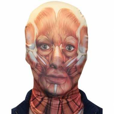 Carnavalskleding halloween morphsuit masker gezicht spieren roosendaal