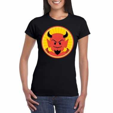 Halloween rode duivel t shirt zwart dames carnavalskleding roosendaal