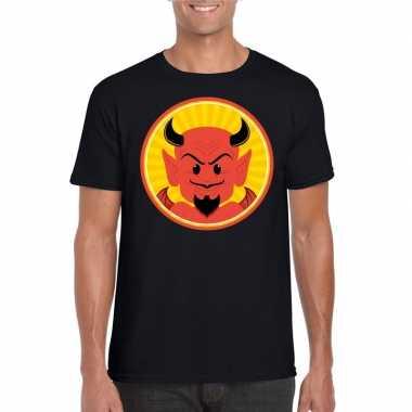 Halloween rode duivel t shirt zwart heren carnavalskleding roosendaal