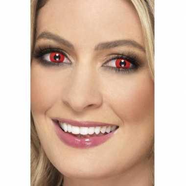Halloween rode halloween party daglenzen duivel carnavalskleding roos