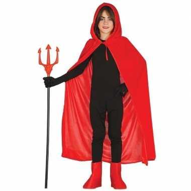 Halloween rode halloween verkleedcape capuchon kinderen carnavalskled