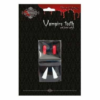 Halloween vampiertanden halloween bloedcapsules carnavalskleding roos