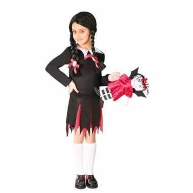Halloween wednesday verkleed jurk meisjes carnavalskleding roosendaal