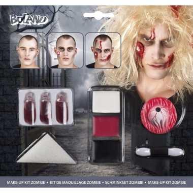 Halloween zombie schminkset bloed capsules carnavalskleding roosendaa