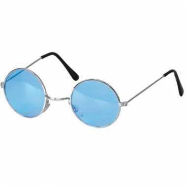Hippie / flower power verkleed bril blauw carnavalskleding roosendaal