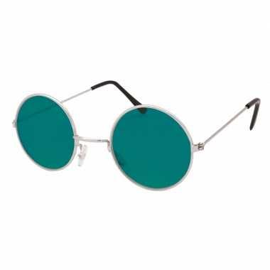 Hippie / flower power verkleed bril groen carnavalskleding roosendaal