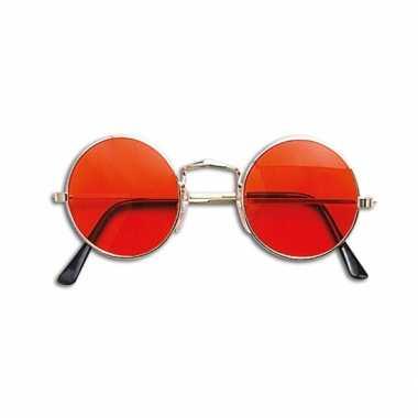 Hippie / flower power verkleed bril oranje carnavalskleding roosendaa