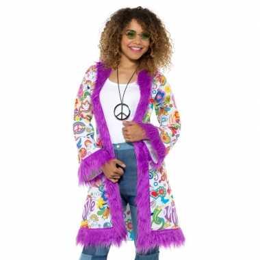 Hippie groovy jas dames carnavalskleding roosendaal