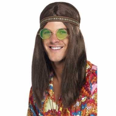 Hippie heren verkleed kit carnavalskleding Roosendaal