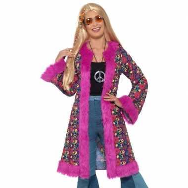 Hippie peace jas dames carnavalskleding roosendaal