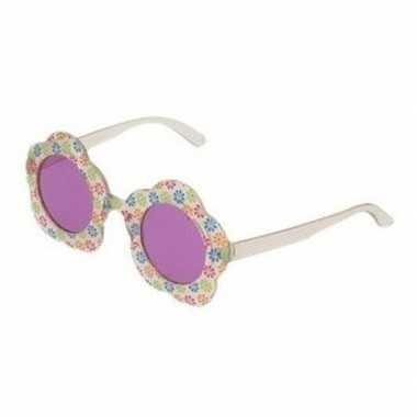Hippie verkleed bril paarse glazen volwassenen carnavalskleding roose