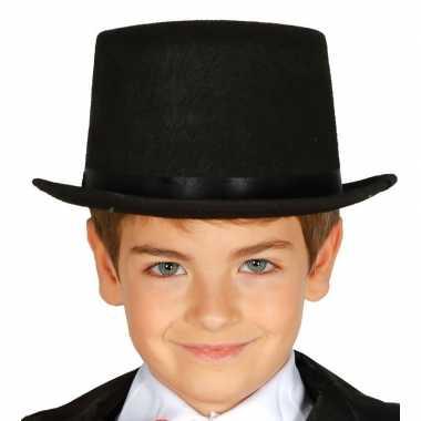 Hoge hoed zwart kinderen carnavalskleding roosendaal