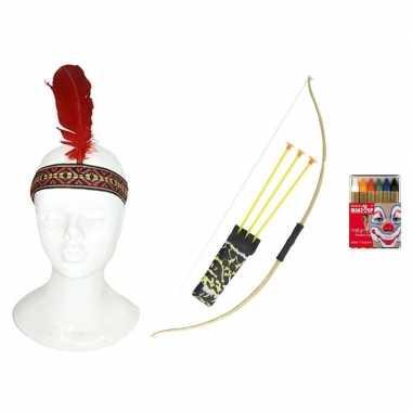 Indianen accessoire set volwassenen carnavalskleding roosendaal