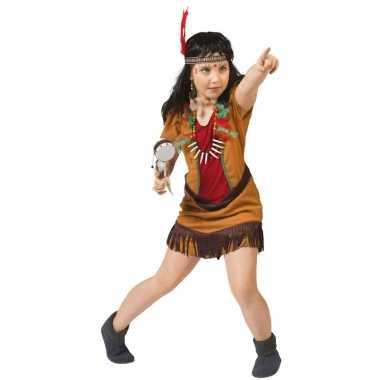 Indianen verkleed jurkje meisjes carnavalskleding roosendaal