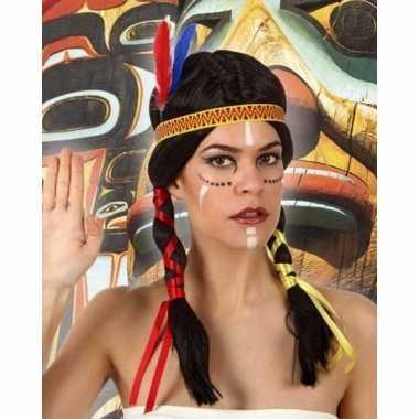 Indianen verkleed pruik staarten dames carnavalskleding roosendaal
