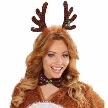 Kerst diadeem rendier gewei strik carnavalskleding roosendaal